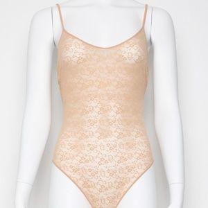 Vintage 80's Christian Dior monogram lace bodysuit